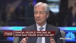 JPMorgan CEO Jamie Dimon blames trade war for market turmoil
