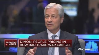 JPMorgan CEO Jamie Dimon blames trade war for market turmoil