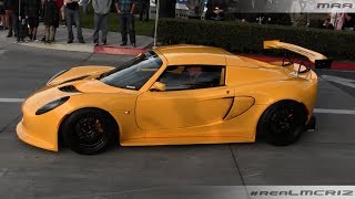 Modified Lotus Elise - Porsche GT3 RS - C7 Stingray - Cars and Coffee Irvine