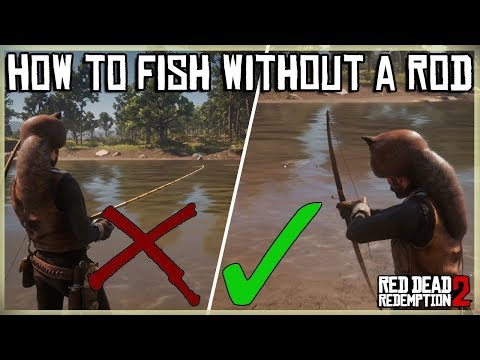 HOW TO CATCH A FISH WITHOUT A ROD - MASTER HUNTER 8 - RED DEAD REDEMPTION 2