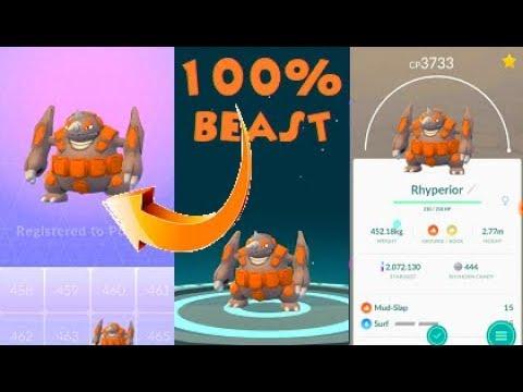 Pokemon Go Sinnoh 4th Gen 100 Iv Rhyperior Evolution