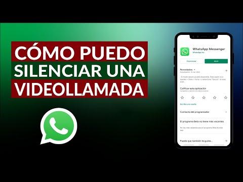Cómo Puedo Silenciar una Videollamada de WhatsApp