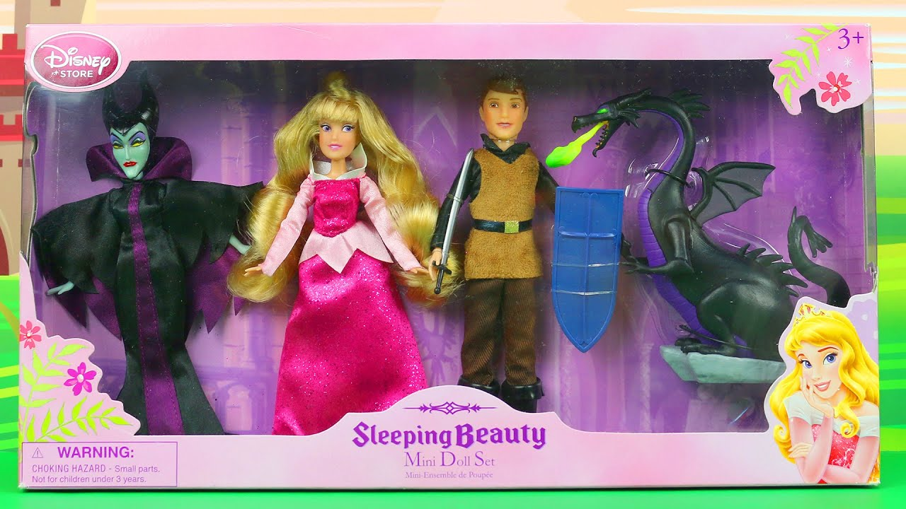 sleeping beauty mini doll set review from disney store