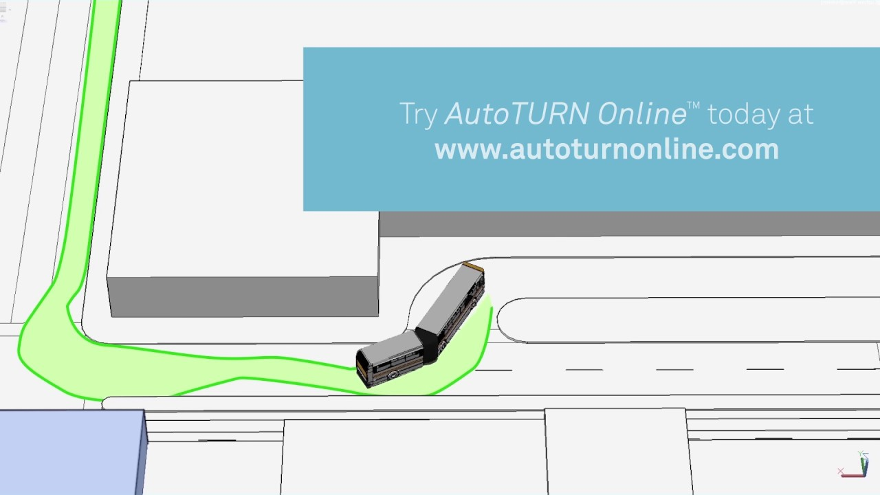 Online Vehicle Swept Path Analysis - AutoTURN Online - YouTube