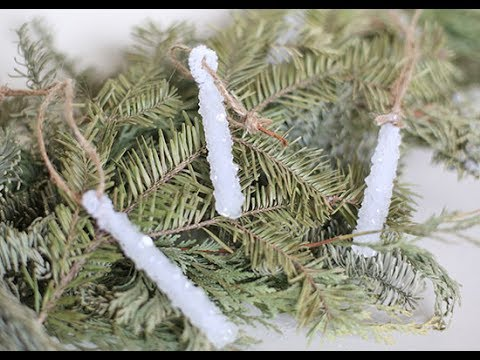 DIY Sparkling Icicle Ornaments