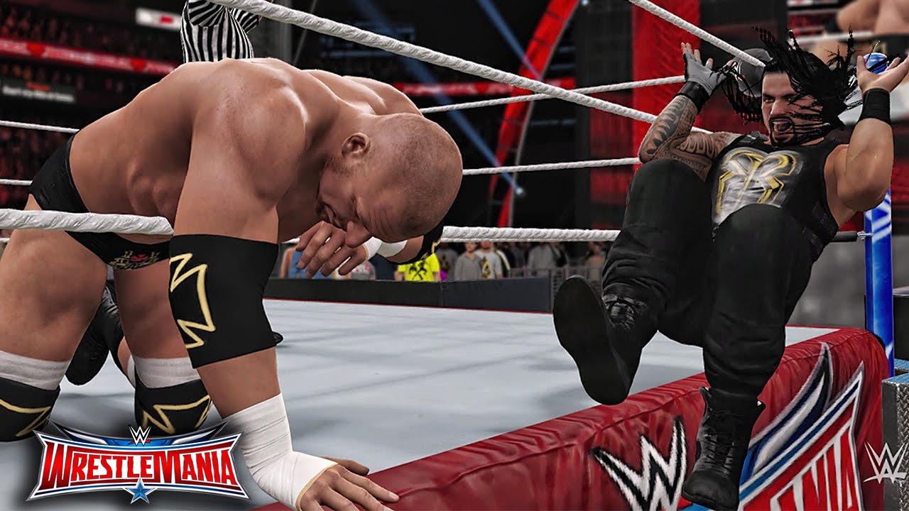 Download WWE 2K16 Wrestlemania 32 - Triple H vs Roman Reigns WWE World Heavyweight Championship Match!