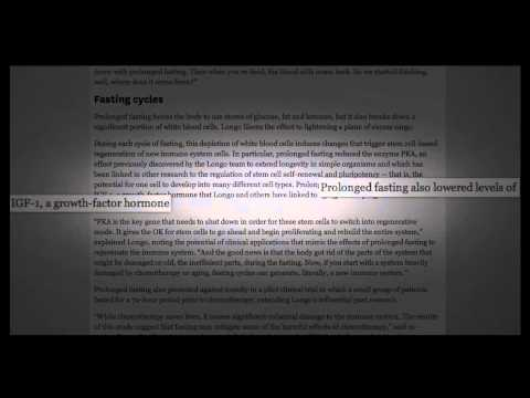 ʬ Fasting Triggers Immune System Regeneration YouTube