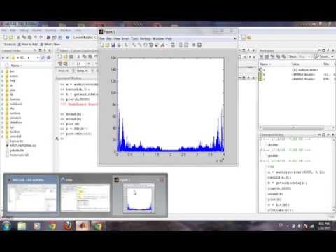 How to record sound and do spectral analysis in Matlab???