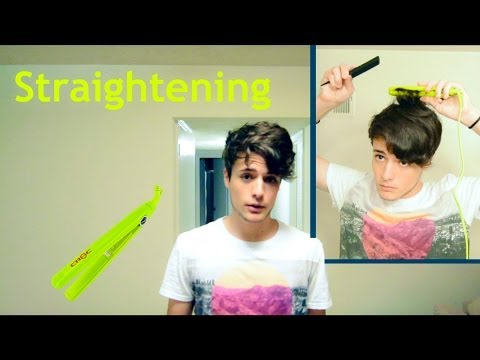 how-to-straighten-wavy-hair-(straightener/flat-iron)---men's-hair