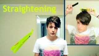 How to Straighten Wavy Hair (Straightener/Flat Iron) - Men
