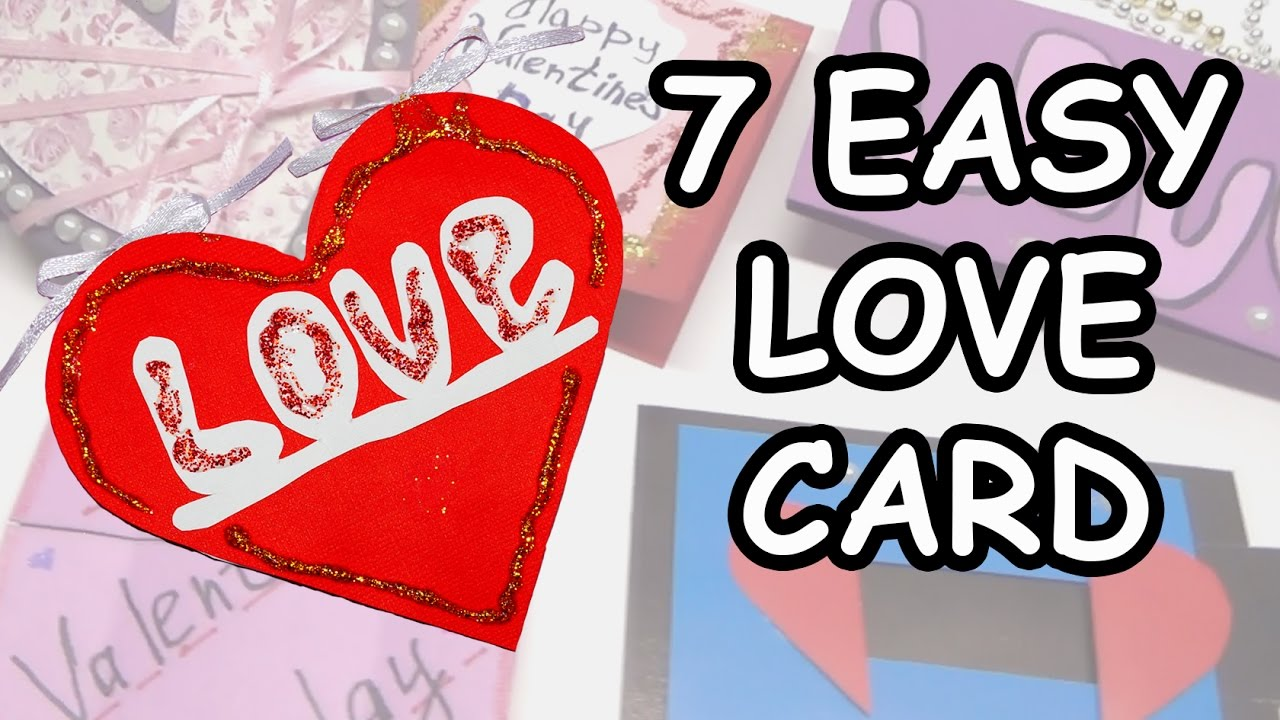Love Card Making Ideas Part - 18: 7 DIY LOVE Greeting Card Making. DIY Paper Craft Ideas. Ideas For  Valentineu0027s Day / Julia DIY - YouTube