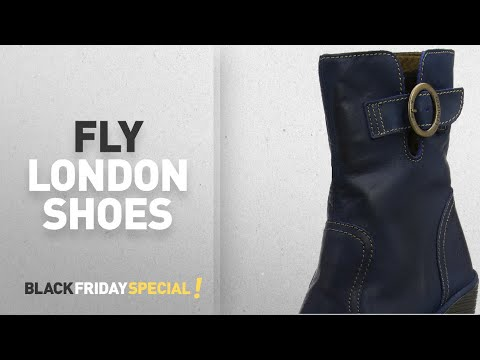 Black Friday 60% Off Fly London Shoes: Fly London Women's CONN791FLY Boots, Blue (Blue), 3 UK 36