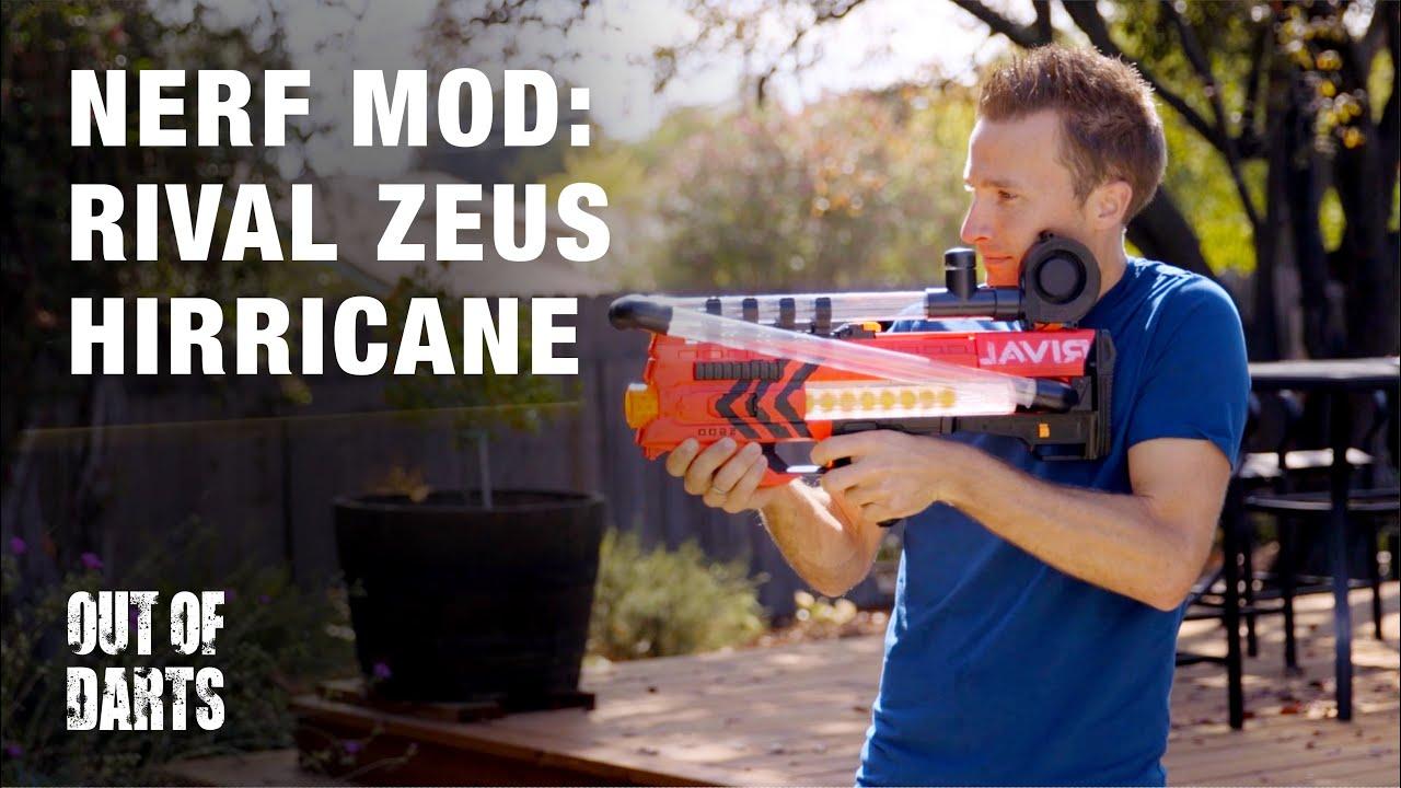 NERF MOD Nerf Rival Zeus MXV 5600 Ultimate Zeus mod 56 BALLS
