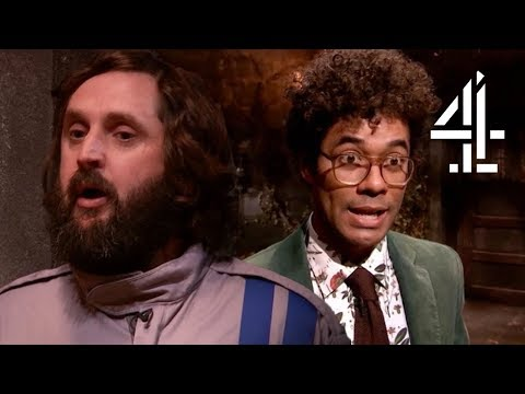 Richard Ayoade FALLS INTO WATER During  Transition!  The Crystal Maze: Celebrity Special