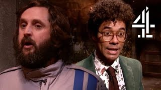 Richard Ayoade FALLS INTO WATER During Scene Transition! | The Crystal Maze: Celebrity Special