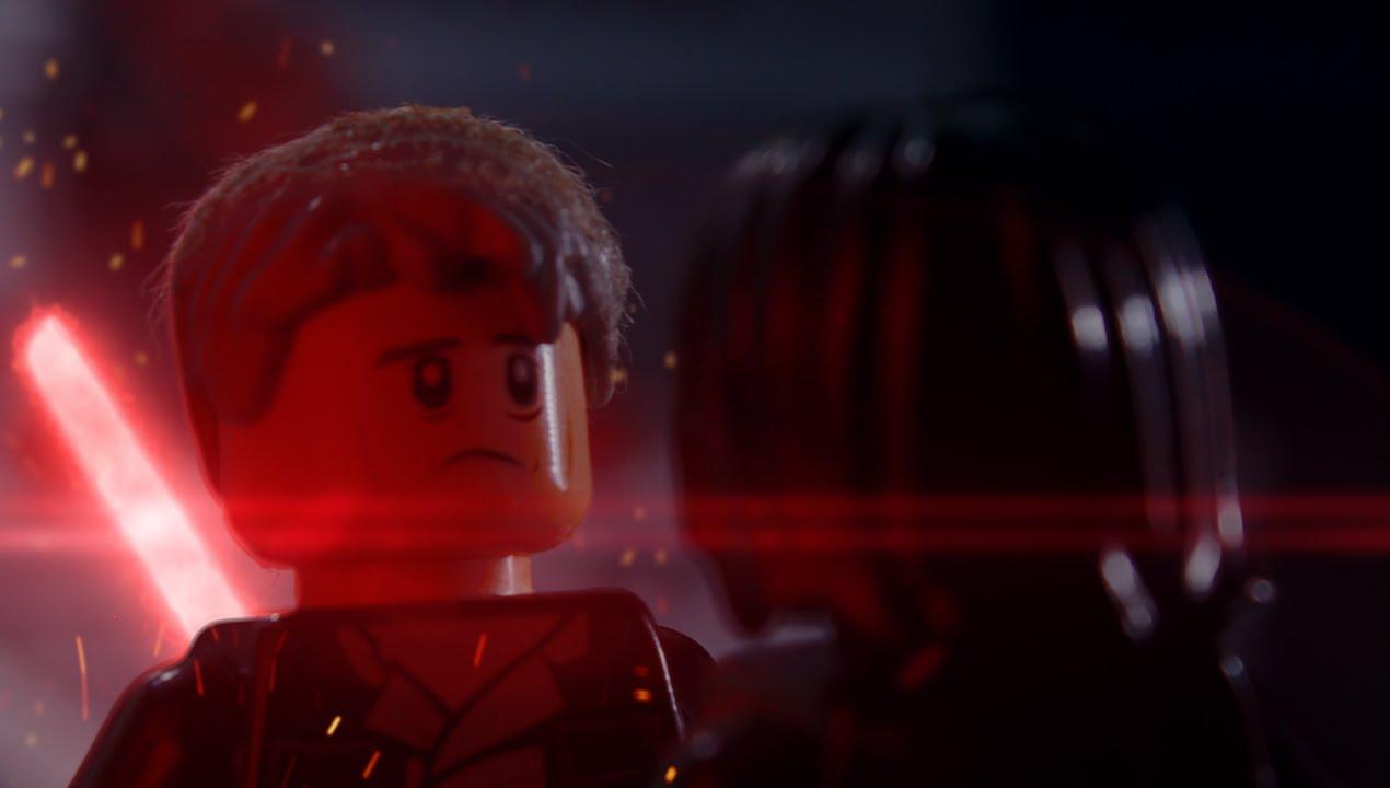 Lego Han Solo Vs Kylo Ren Full Version Han Solo Death Scene By Wla Youtube