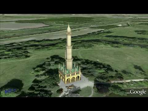 Liechtenstein´s Minaret 1797-1804 Eisgrub · Lednice Garden of Europe · Unesco Czech Heritage
