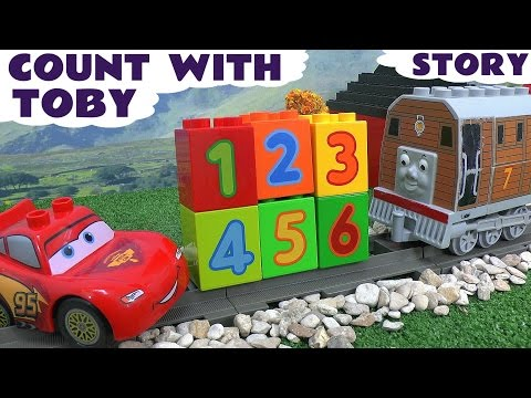 Thumbnail: Learn To Count 123 With Cars & Thomas & Friends Toby Lego Duplo Cars McQueen Plus Animals