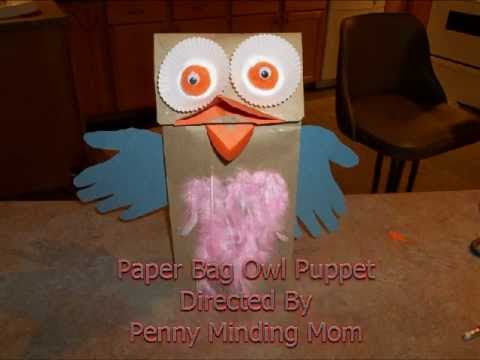 how to make a paper bag wolf puppet