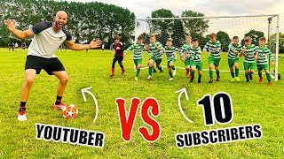 I CHALLENGED 10 KID SUBSCRIBERS TO A FOOTBALL COMPETITION!