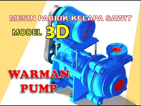 model 3d warman pump atau pompa merk warman by 7119dt - YouTube