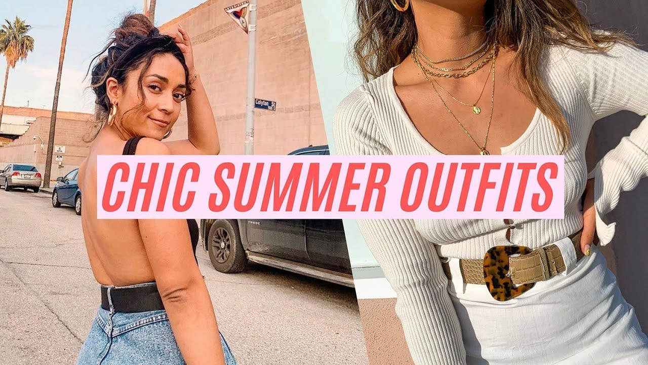 10 CHIC SUMMER OUTFIT IDEAS    STYLING FT. NASTY GAL LULUS SHOWPO    IMLVH 2