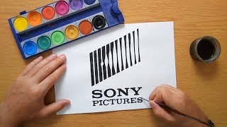 How to draw the Sony Pictures logo