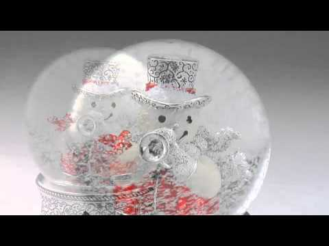 Things Remembered Musical Trumpet Snowman Water Globe Holiday Catalog 2013 767932