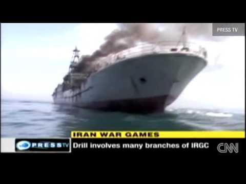 Islamic Revolution Guards Corps on military drill in Persian Gulf - Iran 22 April 2010