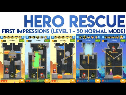 Hero Rescue First Impressions [Level 1 to 50 Normal Mode]