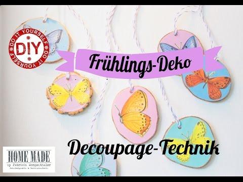 how-to-i-frühlingshafte-astscheiben-i-decoupagetechnik-i-deko-inspirationen-selbstgemacht