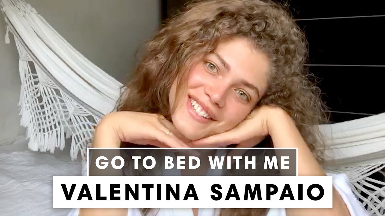 Brazilian Model Valentina Sampaio's Nighttime Skincare Routine | Go To Bed With Me | Harper's BAZAAR