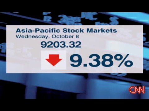 Nikkei dropped 10% in one day - October 2008 stock market crash