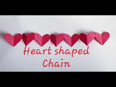 DIY how to make Heart Shaped Chain/connecting hearts/origami/paper craft ideas