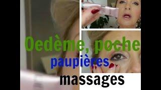 Oedeme , poches paupière gonflée massages et soins
