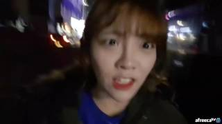 야외먹방 후 달밤에 산책하는 슈기!!! 슈기♬ Mukbang