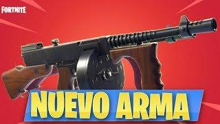 JUGANDO con *SUBFUSIL de TAMBOR* NUEVO ARMA - Fortnite: Battle Royale