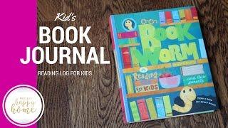 Kid Book Log || Bookworm Journal  (Flip-Through Review)