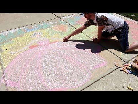 Roblox Royale High Side Walk Chalk Art by Gamer Chad
