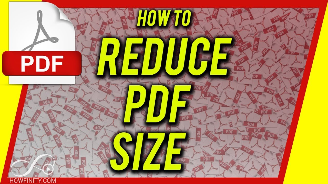 How to Reduce PDF File Size - YouTube