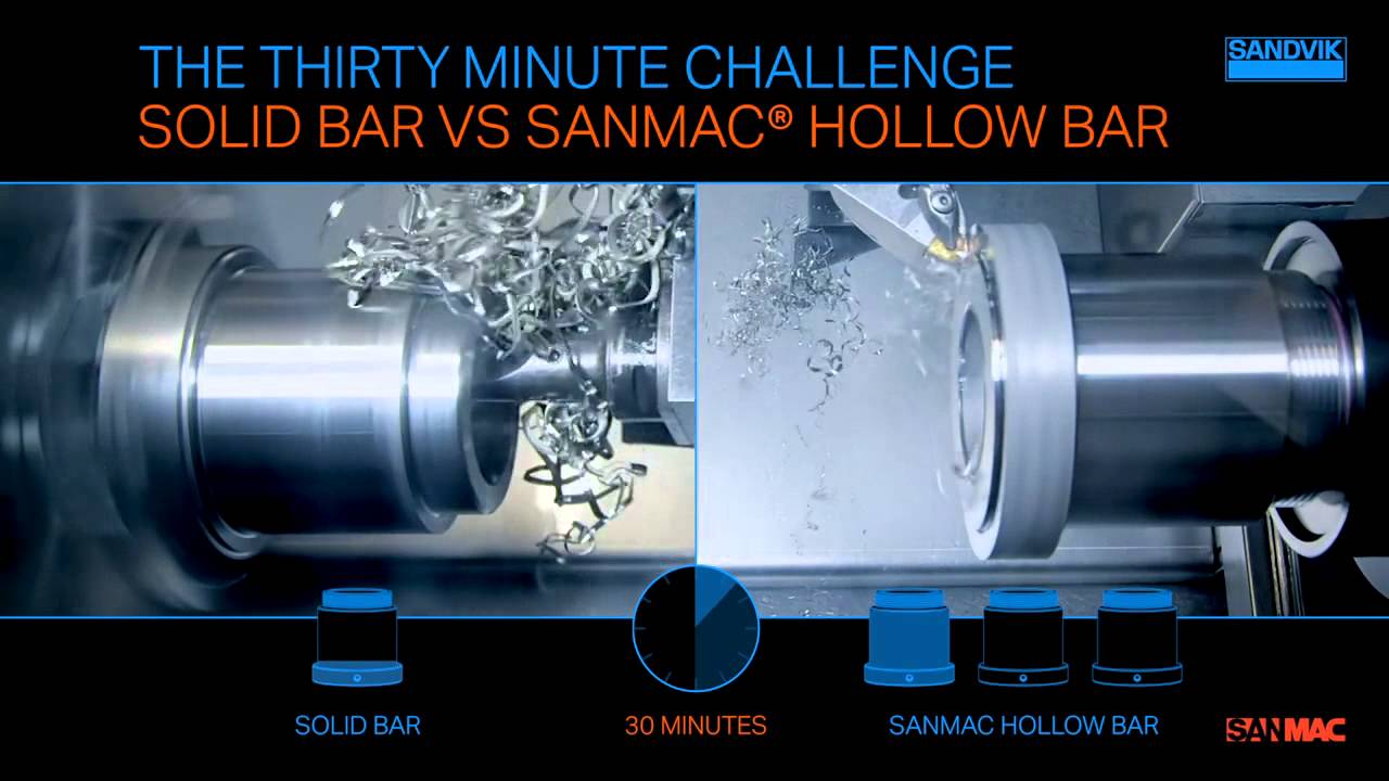 The thirty minute challenge - Sanmac hollow bar vs solid bar