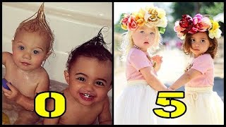 Everleigh and Ava From Baby to Child
