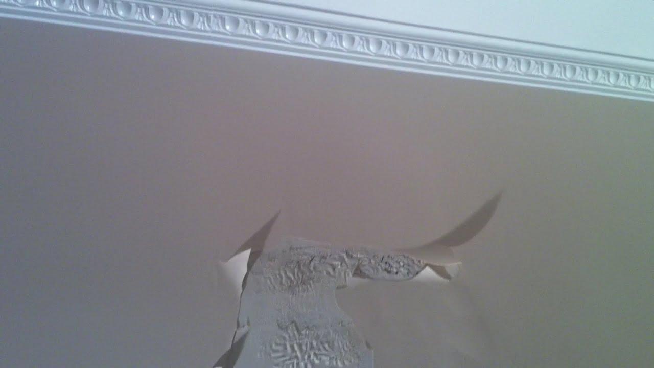 Peinture caill e les enduits youtube for Platre plafond salle de bain