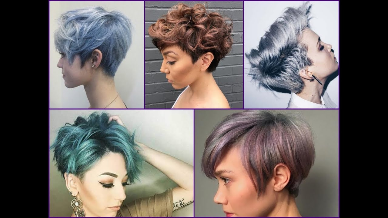 20+ Best Hair Color Ideas For Pixie Cut and Short Hair - YouTube