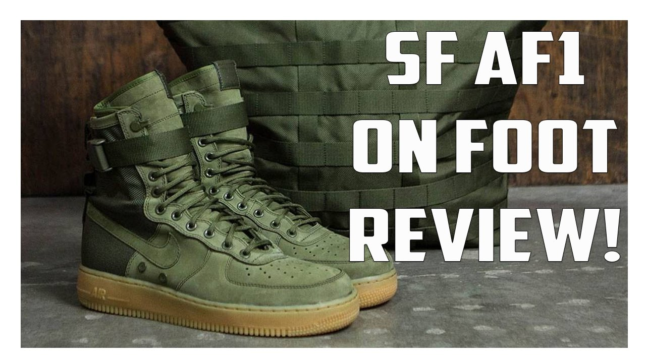 Nike Special Forces Air Force 1 Boots Faded OliveFaded Black Orange Top Deals