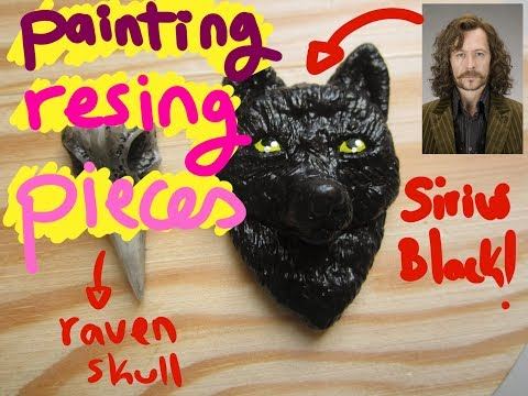 DIY RESIN JEWELRY, Painting resin pieces, Sirius Black