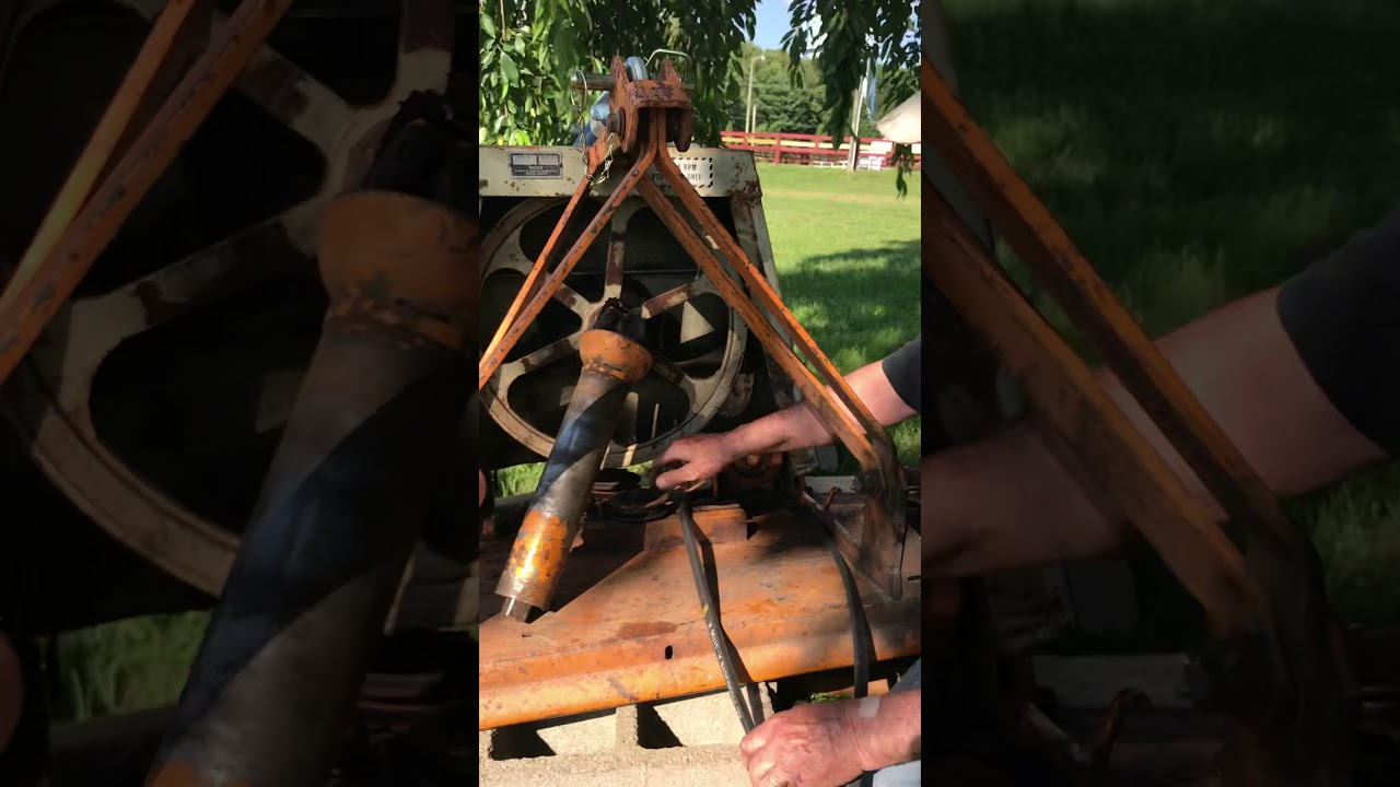 Woods RM 59 mower belt change