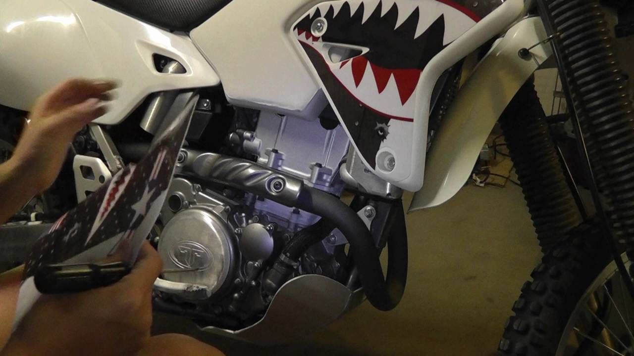 Time Lapse AMR Racing Graphics Kit Decal Installation on a DRZ400