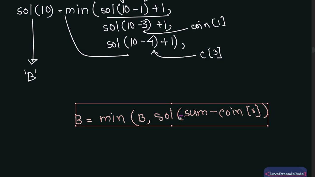 Coin Change Problem [English] : Dynamic Programming