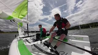 Zapętlaj Rs quest sailboat Firbeck sailing club at Rother valley. | sean armitage